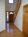 Durable oak floors are perfect for any entrance